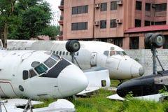 老打破的飞机 库存照片