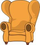 老扶手椅子 免版税库存图片