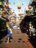 老批发市场在曼谷 图库摄影