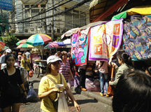 老批发市场,泰国 免版税库存照片