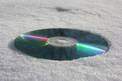 老技术概念 接近的计算机磁盘驱动器照片 免版税库存照片