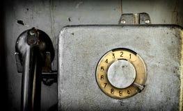 老投币式公用电话 图库摄影