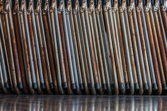 老折叠椅 免版税库存照片