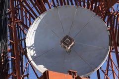 老抛物面卫星天线 免版税库存图片