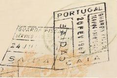 老护照 库存照片