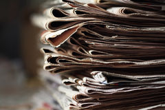 老报纸 库存图片