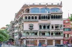 老拉合尔历史大厦,食物街道拉合尔巴基斯坦 库存图片