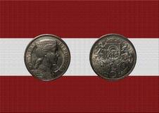 老拉脱维亚货币 库存照片