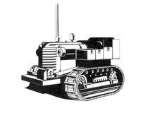 老拖拉机图画 免版税库存图片
