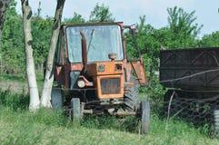 老拖拉机 免版税图库摄影