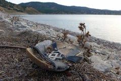 老拖鞋 库存图片