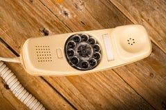 老拨号电话 库存照片