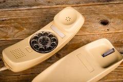 老拨号电话 免版税库存图片