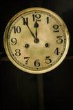 老拨号盘时钟 图库摄影