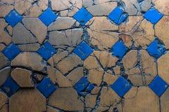 老拼花地板关闭 罗马建筑学 库存照片