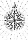 老指南针grunge 免版税库存照片