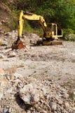 老挖掘机 库存图片