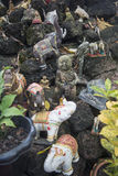老挝万象WAT SI MUANG高棉STUPA废墟 库存图片
