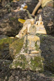 老挝万象WAT SI MUANG高棉STUPA废墟 免版税库存图片