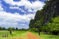 老挝乡下公路 库存图片