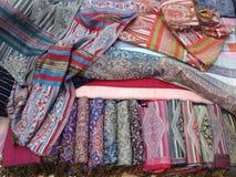 老挝人丝绸 免版税库存图片