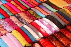 老挝人丝绸 库存照片