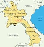 老挝人人民主共和国-传染媒介地图-老挝 皇族释放例证