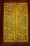 老挝人寺庙门,老挝 免版税库存照片