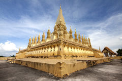 老挝人寺庙 免版税图库摄影