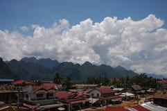 老挝人小的村庄 免版税图库摄影