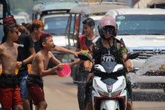老挝人新年庆祝 免版税图库摄影