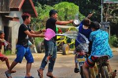 老挝人新年庆祝 库存图片
