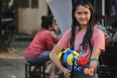 老挝人新年庆祝 免版税库存照片
