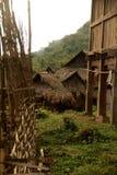 老挝人的村庄 免版税库存图片