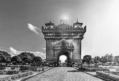 老挝人门 库存照片