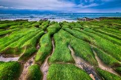 老挝人阿梅绿色岩石低谷在新的台北 图库摄影