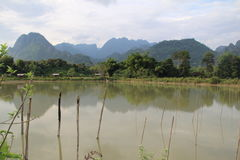 老挝人风景 免版税库存照片