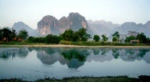 老挝人Lanscape 图库摄影