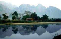 老挝人Lanscape 库存图片
