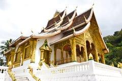 老挝人Luangprabang博物馆  图库摄影