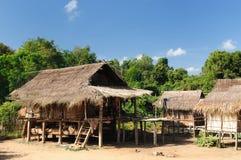 老挝人muang农村场面唱歌 库存照片