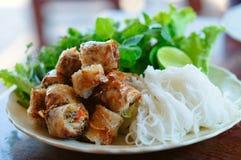 老挝卷春天猪圈 免版税图库摄影