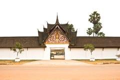 老挝古庙 免版税库存照片