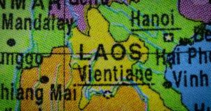 老挝地区国家地图在地球的 影视素材