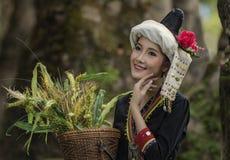 老挝妇女 免版税库存照片