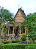 老挝寺庙外部 免版税库存照片