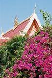老挝寺庙屋顶  免版税库存照片