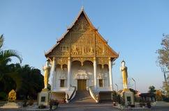 老挝寺庙整理霍尔 免版税库存照片