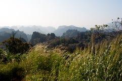 老挝山风景 图库摄影