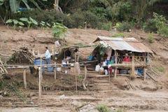 老挝琅勃拉邦湄公河人 库存照片
